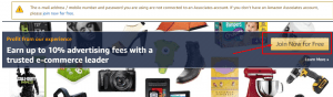 amazon affiliate program join