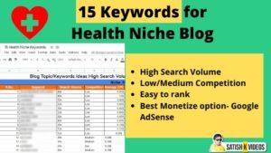 Health Niche Keywords