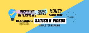 Satish K Videos Channel Art