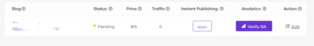 flyout Google analytics